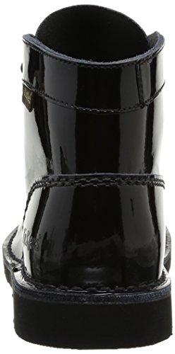 Kickers Kick Col Perm, Boots fille Noir (noir Vernis Perm)