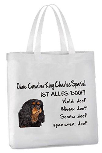 AdriLeo Einkaufstasche Ohne Cavalier King Charles Spaniel ist Alles doof! -
