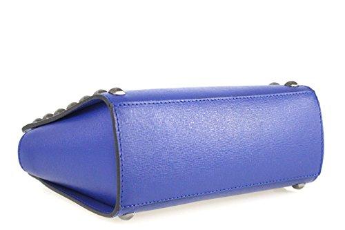 Borse a Tracolla e Zaini Sophie Beauty in Vera Pelle, Made in Italy Bluette