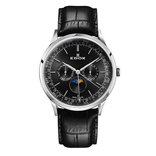 EDOX Men's Analogue Quartz Watch with Leather Strap 40101-3C-NIN