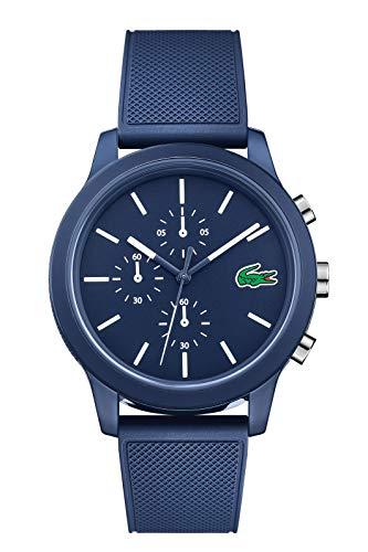 Lacoste Hommes Chronographe Quartz Montres bracelet avec bracelet en Silicone - 2010970