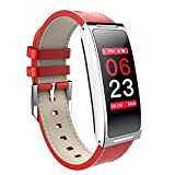 LYRLHB Smart-Armband, Herren-Pulsuhr, Fitness-Tracker, Leder-Smart-Armband, IP67 Wasserdicht, Damenarmband, Geschenk-Schlafmonitor, Kalorienzähler