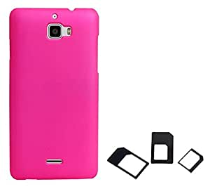 Chevron Back Cover Case for Coolpad Note 3 with Multi Sim Adapter (Light Pink)