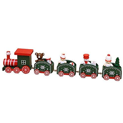 Togelei New 5 Weihnachten Holz Zug Holz Weihnachten Weihnachtsdekoration Deko Geschenk Kinder Nähen Spielzeug Holzspielzeug Pädagogisches Spielzeug