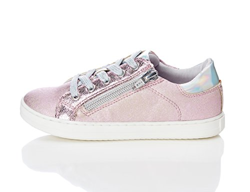 RED WAGON Girl's Trainer With Zipper Pink (Pink Mix With Metallic Sheen) 10 UK Child (28 EU)