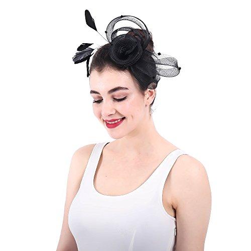 Frauen Licht Sinamay Fascinator Haarspange Mithelfer Hochzeit Cocktail Tea Party Kentucky Derby-Teeparty-Kopfbedeckung