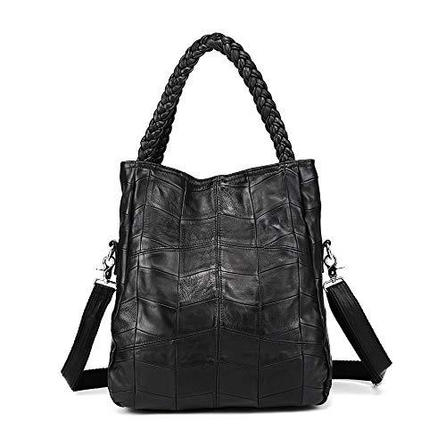 Xuanbao-HB Damen-Damenhandtasche Schwarz Große Slouchy Soft Leder Frauen Handtasche Geflochtene Schulter Tote Bag Lady Hobo Satchel Taschen Hobo Taschen -