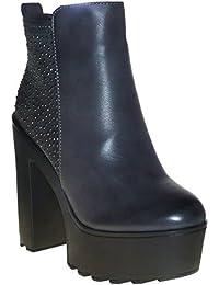 Damen Stiefelette 15s934 schwarz Damenschuh Stiletto 39