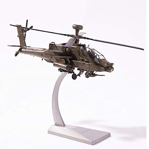 LYXin 1:72 Hubschrauber AH-64D Gunship Modell Legierung fertig flugzeugmodell für Desktop Dekoration und Sammlung, Geschenke -