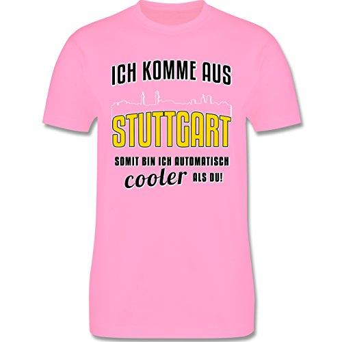 Städte - Ich komme aus Stuttgart - Herren Premium T-Shirt Rosa