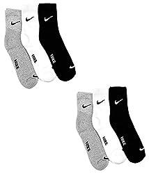 Nike Multicolour Cotton Socks - Pack of 6