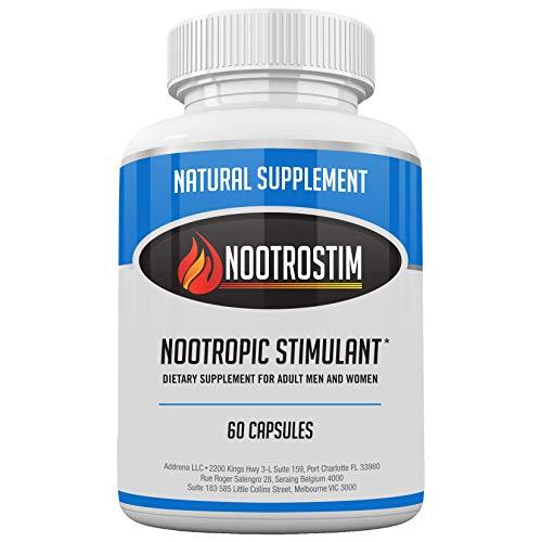 NootroStim- Nootropic Brain Supplements & Stimulants for Energy & Focus |  Natural Cognitive Enhancer Pills as The Best Alpha Brain Wave Booster