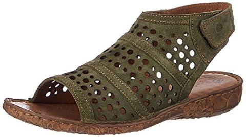 Josef Seibel Women's Rosalie 07 Open Toe Sandals green Size: 5