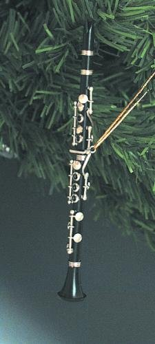Musik Treasures CO. Schwarz Klarinette Weihnachten Ornament