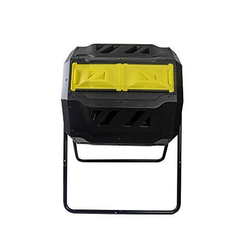 EJWOX Kompostierbecher - doppelt drehbarer Komposteimer für den Außenbereich, einfach zu drehen/genug Höhe/robuste Kapazität Komposter Style 1 - Yellow