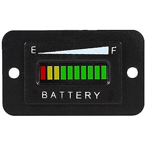 48V Batteria a LED indicatore Meter Gauge Charge Discharge Tester