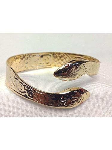 Serás la faraona más sexy y respetada del Antiguo Egipto con este brazalete de serpiente. Fabricado de metal y en color dorado, este brazalete de serpiente es ideal para tu disfraz de egipcia. Tiene unas dimensiones de 13mm de ancho por 21cm de largo...