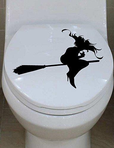 HuaXing parete adesivo, ragazza che una scopa bagno parete da ...