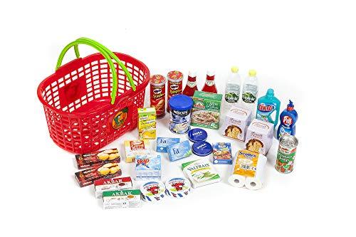 Polly Kaufmannsladen Zubehör Einkaufskorb gefüllt mit 29 Miniaturen für den Kaufladen .Diese Produkte Laufen Nicht auf der Kaufladen Kassen App.