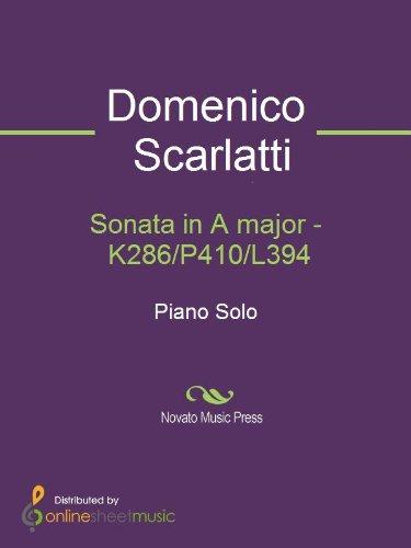 Sonata in A major   K286/P410/L394 Arts, Film   Photography