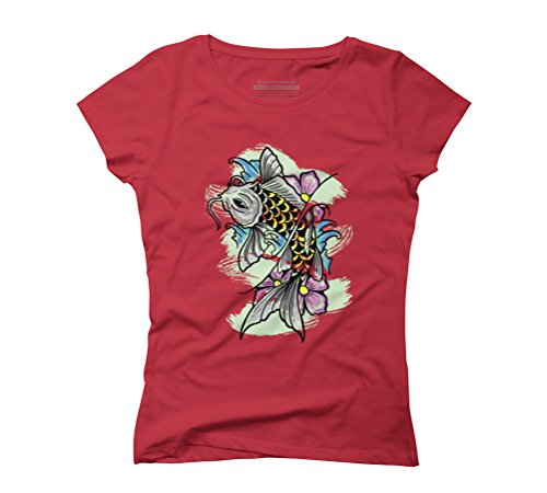 Koi illustration ,, Women's Graphic T-Shirt - Design By Humans Red
