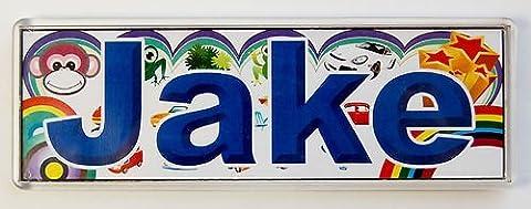 Porte-nom personnalisé pour chambre Inscription/carrelage/Magnet cadre ~Jake