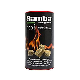 Samba Fuego 0332 – Pastillas de encendido ecológico, color marrón