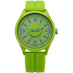 Gio-Goi Men's 'Bass-Head' Analogue Watch GG1009GN With Green Silicon Strap
