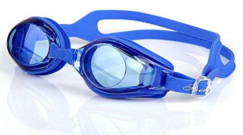 Foxnovo Leacco verstellbare Schwimmbrille für Erwachsene, unisex, beschlagfrei, mit UV-Schutz, common dark blue