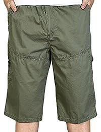 7e5f8824b461 Heheja Herren Bermuda Cargo Shorts Mit Seitentaschen Männer Baumwolle  Militär Vintage Kurze Hosen ...