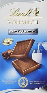 Lindt Vollmilch Schokolade ohne Zuckerzusatz (feinste Lindt Chocolade,...