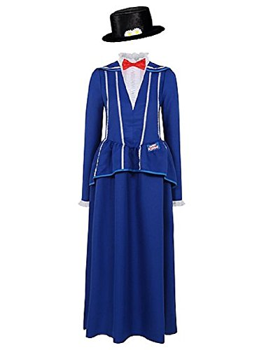 George Womens Mary Poppins Adult Fancy Dress Costume Outfit ()