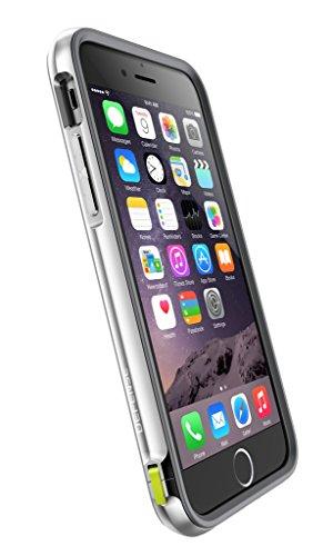 X-Doria D¨¦fense Lux robuste [grade militaire protection D¨¦rouler] TPU Case avec Bumper Case Rail d'aluminium pour iPhone 6s Plus & iPhone 6 Plus (5,5 pouces) (Black Carbon Fiber) Silver Carbon Fiber