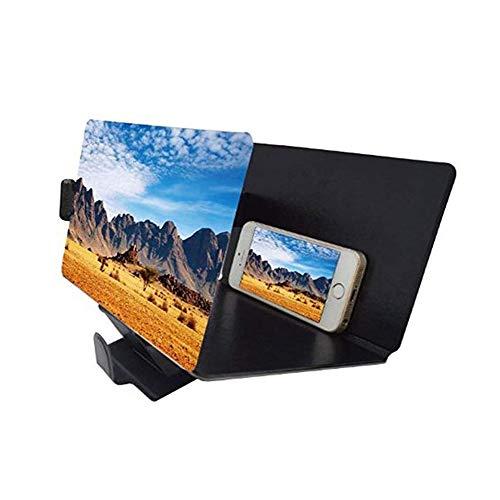 XYEQZ Bildschirmlupe 3D Smartphone Filmverstärker Mit PU-Leder Faltbarer Ständer Für Jedes Smartphone