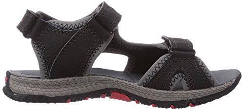 Merrell PANTHER Unisex-Kinder Sport- & Outdoor Sandalen Mehrfarbig (BLACK/RED)