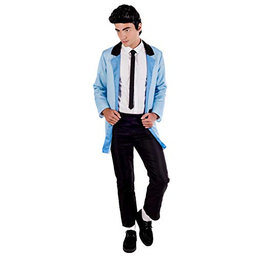 Männer Kostüm Roll Und Rock - Fun Shack Herren Costume Kostüm, Teddy Boy Blue, XL