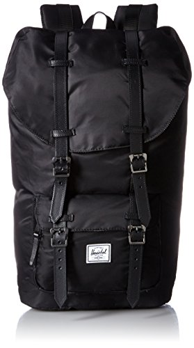 Little America Backpack black-black died veggie tan leather