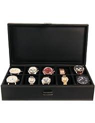 10 reloj piel sintética con fieltro DE Interior reloj de mujer con esfera para auriculares