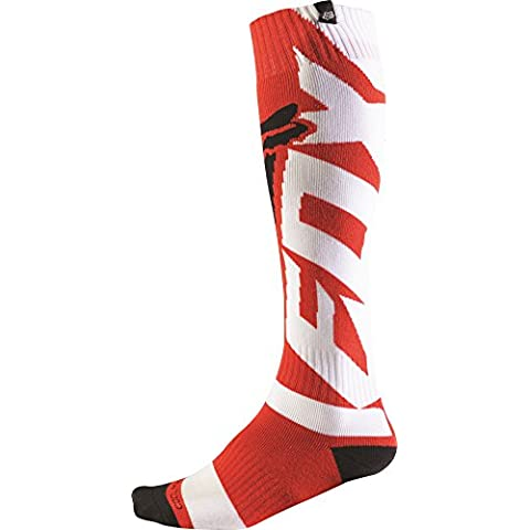Chaussettes Motocross Fox 2016 Coolmax Shiv Thick Rouge (L ,
