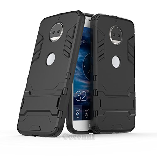 Motorola Moto G5S Plus / G6 Plus Hülle, Cocomii Iron Man Armor NEW [Heavy Duty] Premium Tactical Grip Kickstand Shockproof Hard Bumper Shell [Military Defender] Full Body Dual Layer Rugged Cover Case Schutzhülle XT1806/2/3/4/5 (Jet Black)