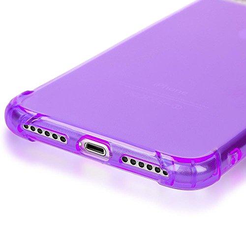 iPhone 8 Plus / 7 Plus Hülle Handyhülle von NICA, Ultra-Slim Silikon Case Crystal Schutz Dünn Durchsichtig, Etui Handy-Tasche Back-Cover Transparent Bumper für Apple iPhone 7Plus / 8Plus - Transparent Lila