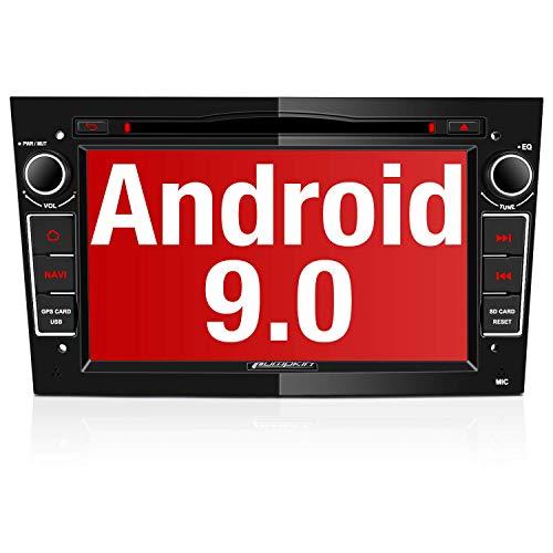PUMPKIN Android 9.0 Autoradio für Opel Radio mit Navi / DVD Player Unterstützt Bluetooth DAB+ WiFi 4G USB CD Android Auto MicroSD 7 Zoll Bildschrim Schwarz