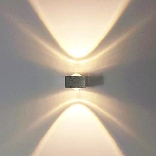 Azerogo Modern Led Wall Lamps 2W Aluminum Spot Light Sconce Lighting Night Lights for Living Room Bedroom Corridor Cool White [Energy Class A+]