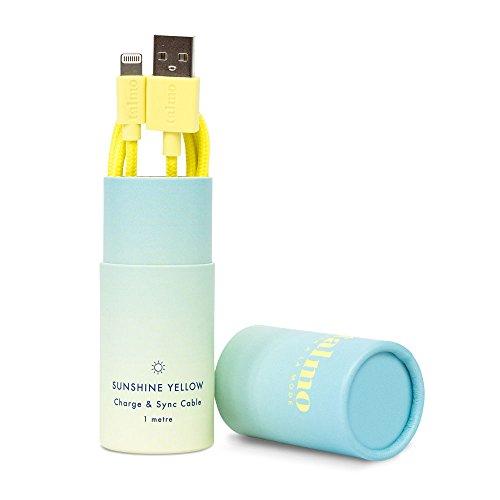 talmo iPhone Ladekabel, Lightning auf USB 1m [Apple MFi Zertifiziert] aus Nylon inkl. Designer-Verpackung Deutschland (Gelb   Sunshine Yellow) (Generation Nano Ipod Gelb 4.)