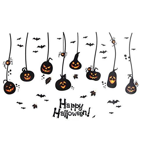 hlafzimmer PVC Kürbis-Muster Halloween Dekoration Wandteppich Abziehbild DE de ()