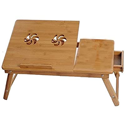 LAPTOP DESK TABLE / NOTE BOOK STAND / BED SOFA TRAY/ Portable Folding Bamboo Table (50x30cm)