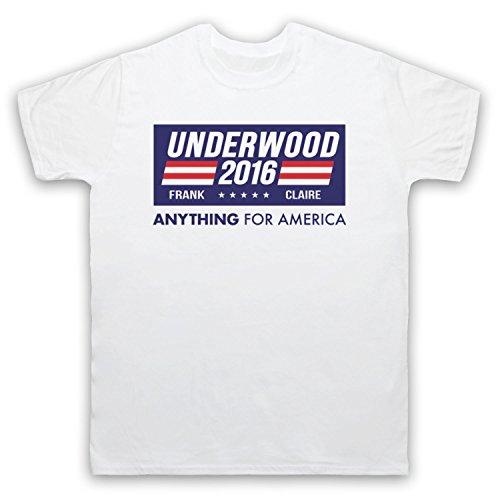 Inspiriert durch House Of Cards Underwood For President 2016 Inoffiziell Herren T-Shirt Weis