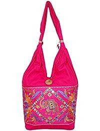 Womaniya Women's Shoulder Bag (Pink-Woman-885)