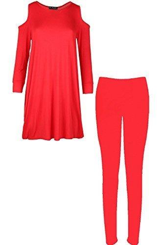 Femmes Épaules Tombantes Baggy Clou Vêtement De Loisirs Femmes Jog Suit Ensemble Legging Survêtement Rouge