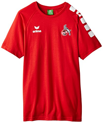 erima FC Köln 5-Cubes T-Shirt, Rot, S, 650300